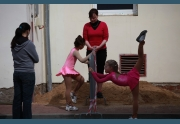 Rozcvička pod dohledem trenérek