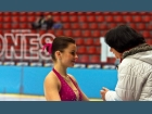 Bára Lahučká s trenérkou Janou Skřivánkovou při Mistrovství ČR juniorů 2011